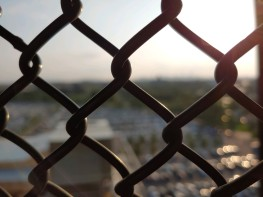 Chain link w a view #3 chain close up